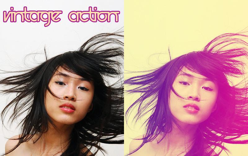 Acción Vintage, un filtro de Photoshop