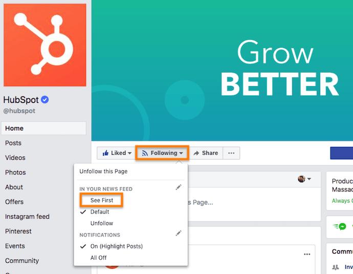 """Consulte la primera opción en Facebook Business Pages que ayuda a los editores a aumentar el alcance orgánico a pesar de la actualización del algoritmo News Feed """"width ="""" 690 """"height = """"535"""" style = """"width: 690px;"""" srcset = """"https://blog.hubspot.com/hs-fs/hubfs/facebook%20business%20page%20see%20first%20option.png?t=1526835520657&width=345&height = 268 & name = facebook% 20business% 20page% 20see% 20first% 20option.png 345w, https://blog.hubspot.com/hs-fs/hubfs/facebook%20business%20page%20see%20first%20option.png?t= 1526835520657 & width = 690 & height = 535 & name = facebook% 20business% 20page% 20see% 20first% 20option.png 690w, https://blog.hubspot.com/hs-fs/hubfs/facebook%20business%20page%20see%20first%20option.png ? t = 1526835520657 & width = 1035 & height = 803 & name = facebook% 20business% 20page% 20see% 20first% 20option.png 1035w, https://blog.hubspot.com/hs-fs/hubfs/facebook%20business%20page%20see%20first% 20option.png? T = 1526835520657 & width = 1380 & hei ght = 1070 & name = facebook% 20business% 20page% 20see% 20first% 20option.png 1380w, https://blog.hubspot.com/hs-fs/hubfs/facebook%20business%20page%20see%20first%20option.png?t = 1526835520657 & width = 1725 & height = 1338 & name = facebook% 20business% 20page% 20see% 20first% 20option.png 1725w, https://blog.hubspot.com/hs-fs/hubfs/facebook%20business%20page%20see%20first%20option. png? t = 1526835520657 & width = 2070 & height = 1605 & name = facebook% 20business% 20page% 20see% 20first% 20option.png 2070w """"sizes ="""" (max-width: 690px) 100vw, 690px"""