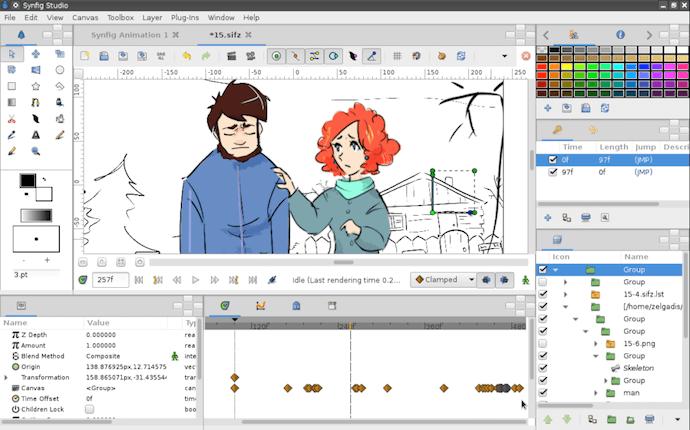 """Software de animación de video Synfig """"width ="""" 483 """"style ="""" width: 483px; margin-left: auto; margin-right: auto"""