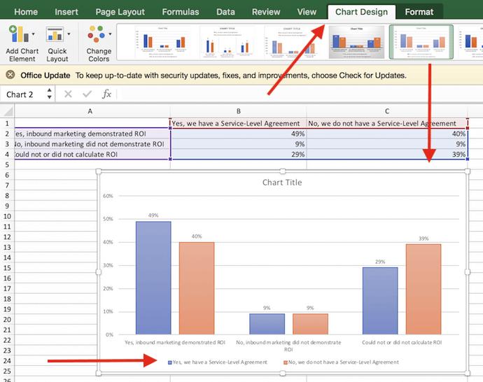 """Opciones de diseño de gráfico en Excel """"width = """"690"""" style = """"width: 690px"""