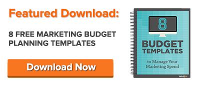 descargar plantillas de presupuesto de marketing gratuitas