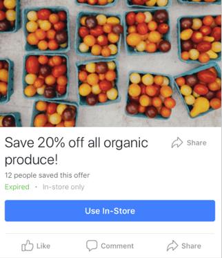 Plantilla de anuncio en Facebook para oferta