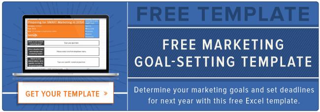 plantilla de ajuste de objetivo de marketing gratuito