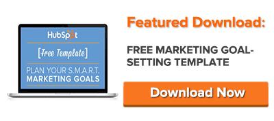 plantilla de establecimiento de objetivo de marketing gratuito