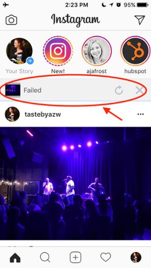 """Error al mostrar si su historia de Instagram no pudo cargar """"title ="""" Error al mostrar si su historia de Instagram falló para cargar """"width ="""" 300 """"style ="""" width: 300px"""