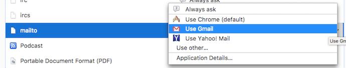 Opción para hacer de Gmail el cliente de correo electrónico predeterminado en Firefox