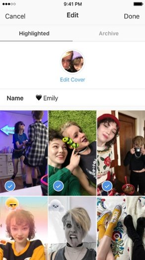"""Las historias destacadas de Instagram se resaltan desde esta página de imágenes anteriores """"width ="""" 293 """"style ="""" width: 293px; margin-left: auto; margin-right: auto """"title ="""" Instagram Stories Highlights se resaltan desde esta página de imágenes anteriores"""