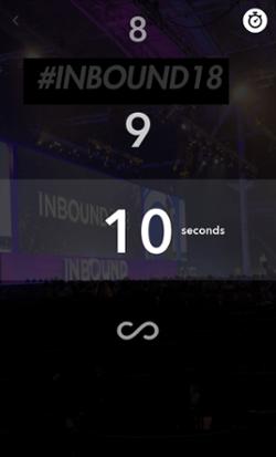 Icono de Snapchat para cambiar la duración de la instantánea