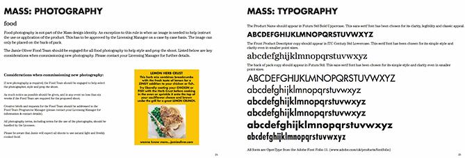 Guías de tipografía para Jamie Oliver