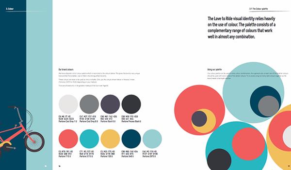 Paleta de colores para Love to Ride con nueve colores geniales en circular icons