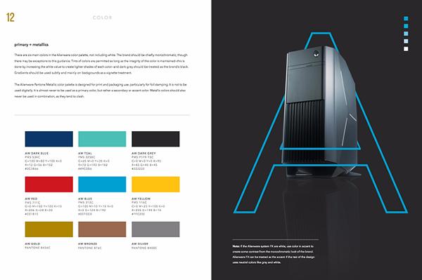 Guía de estilo de marca y paleta de colores para Alienware