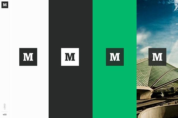 Guía de estilo de marca de Medium, con un blanco, negro y paleta de colores verdes.