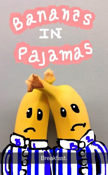 "Fácil dibujo de bananas en Snapchat con pijamas ""title ="" bananas-in-pajamas-snapchat.png ""width ="" 356 ""height ="" 575"
