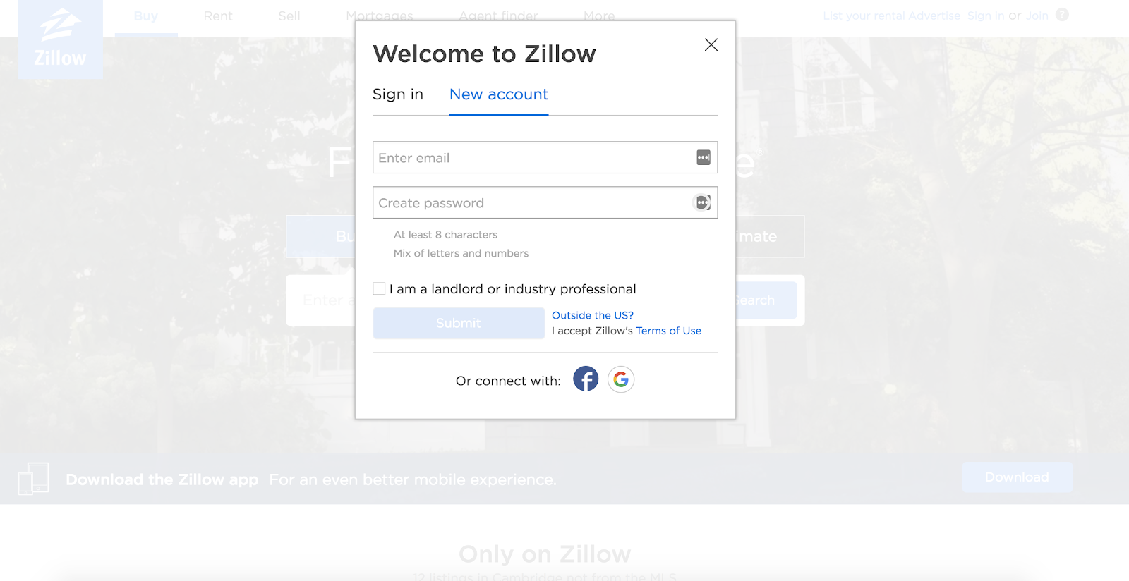 zillow-lead-generation-form
