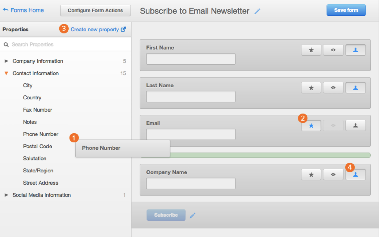Hubspot-email-newsletter-web-form
