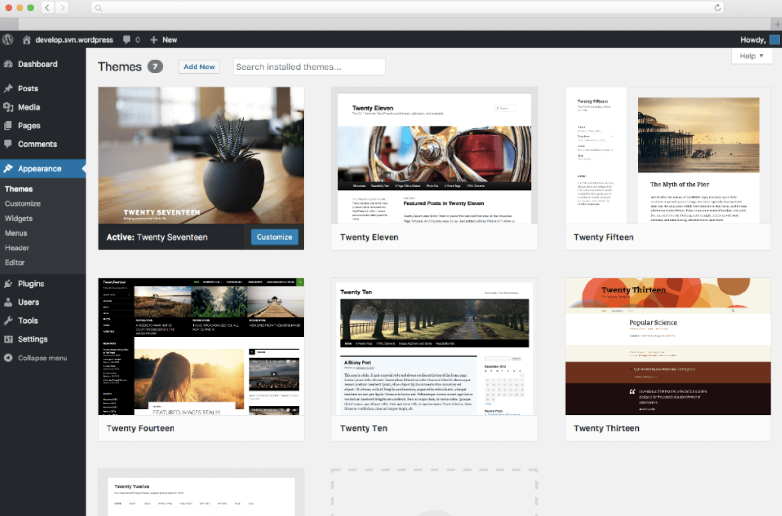 wordpress-theme-setup