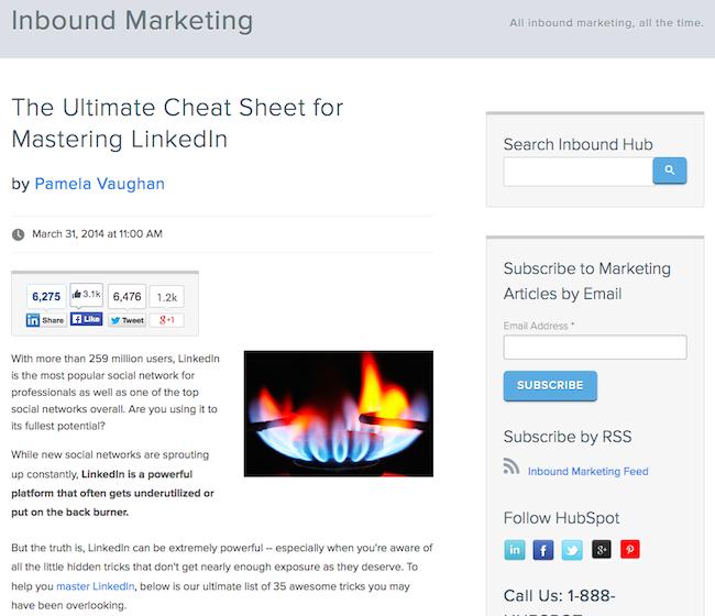 Ejemplo de HTML + CSS usado para formatear una publicación de blog de HubSpot