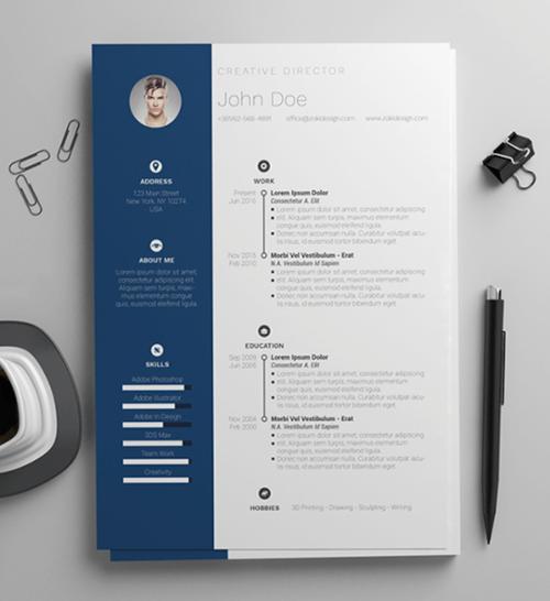 Plantilla de currículum simple y limpia para MS Word