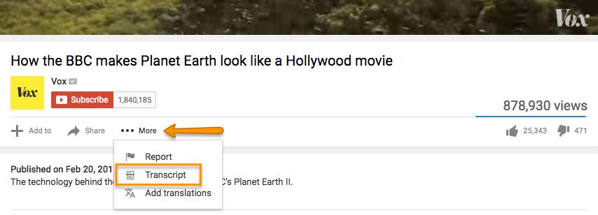 """La etiqueta más de YouTube para encontrar la transcripción del video. """"Width ="""" 854 """"title ="""" La etiqueta más de YouTube para encontrar la transcripción del video. """"Style ="""" width: 854px """"> </p> <p style="""