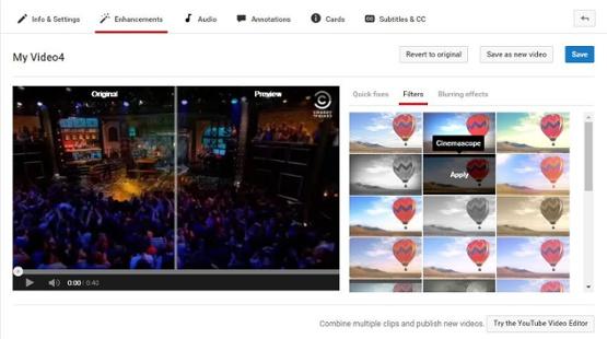 """Filtros de YouTube y otras mejoras."""" width = """"555"""" title = """"Filtros de YouTube y otras mejoras"""". style = """"width: 555px""""> </span></p> <p style="""