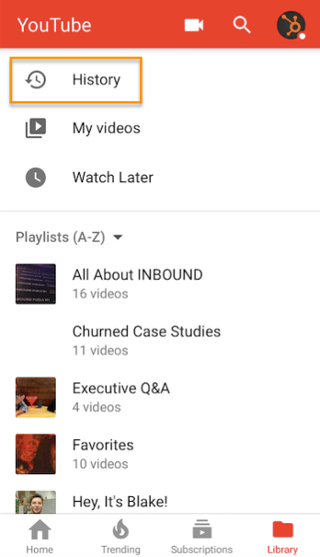 "youtube_history_mobile.png"" width=""320"" title=""youtube_history_mobile.png"" style=""margin-left: auto;margin-right: auto""></p> <p>From there, you can ""clear all watch history"" (permanently delete the record of everything you've watched), ""pause watch history"" (stop recording the videos you watch going forward), or individually remove videos from your history by tapping the X or ellipses next to videos. Here's what it looks like on desktop and on mobile, below:</p> <p><img loading="