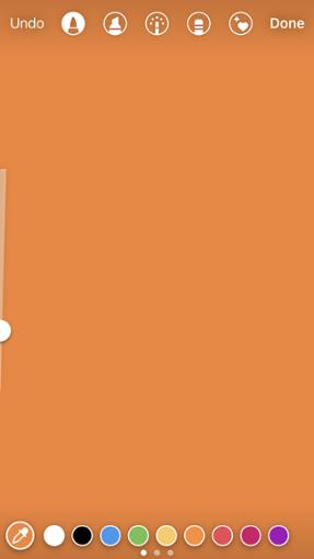 """Configuración de color naranja en Instagram """"width ="""" 287 """"style ="""" width: 287px; margin -left: auto; margin-right: auto"""