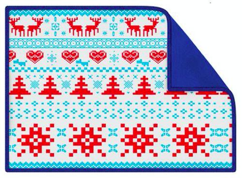Blue Smart Cloth con gráficos pixelados, una idea de regalo de Secret Santa