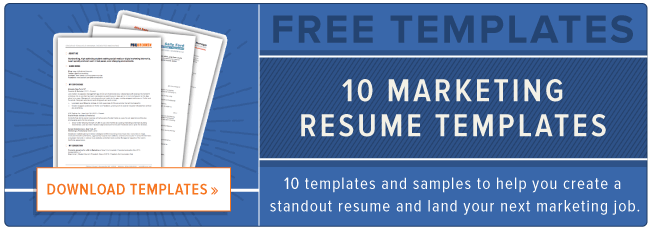Marketing Resume Templates Descargar ahora