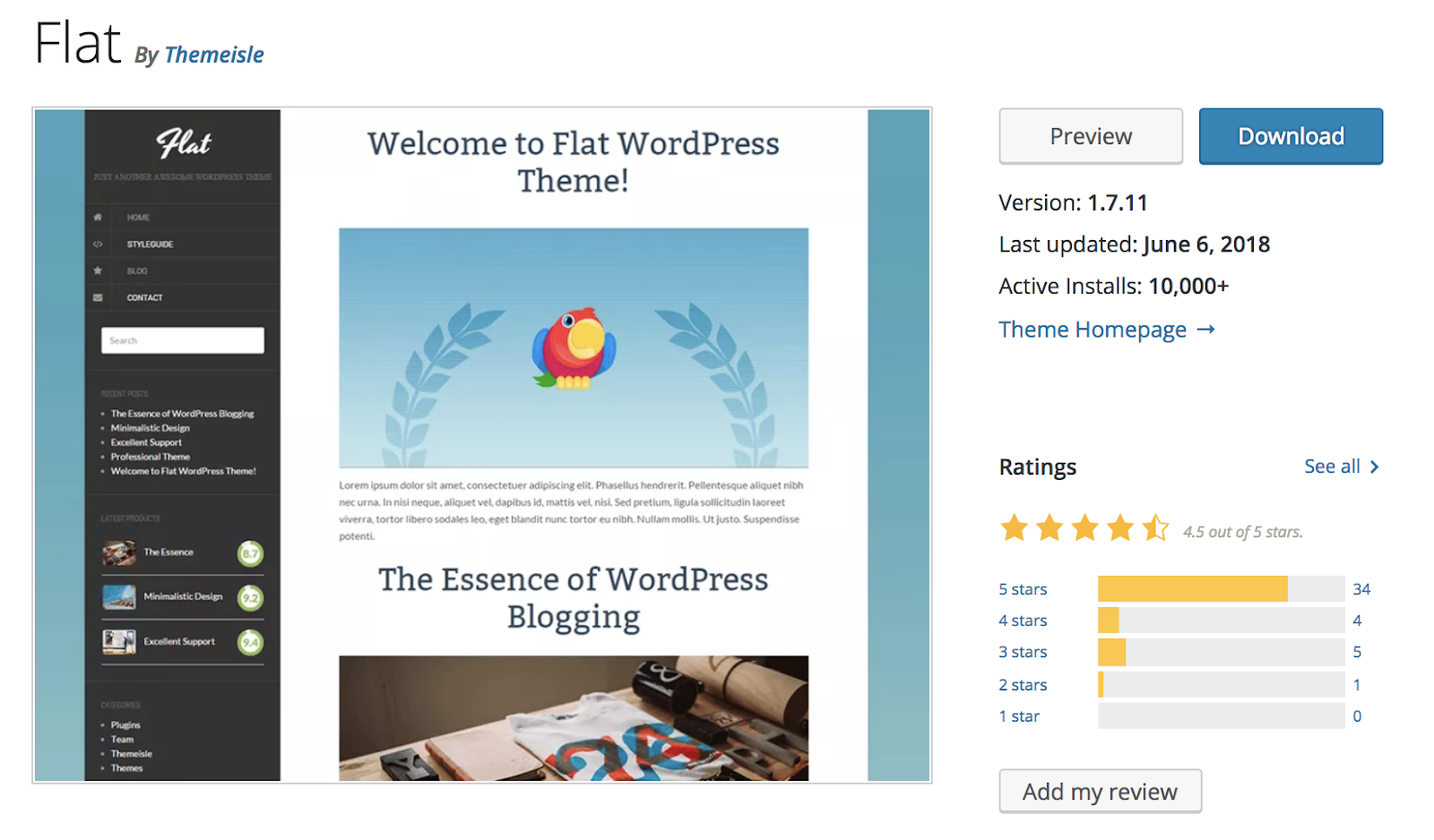 flat-wordpress-theme