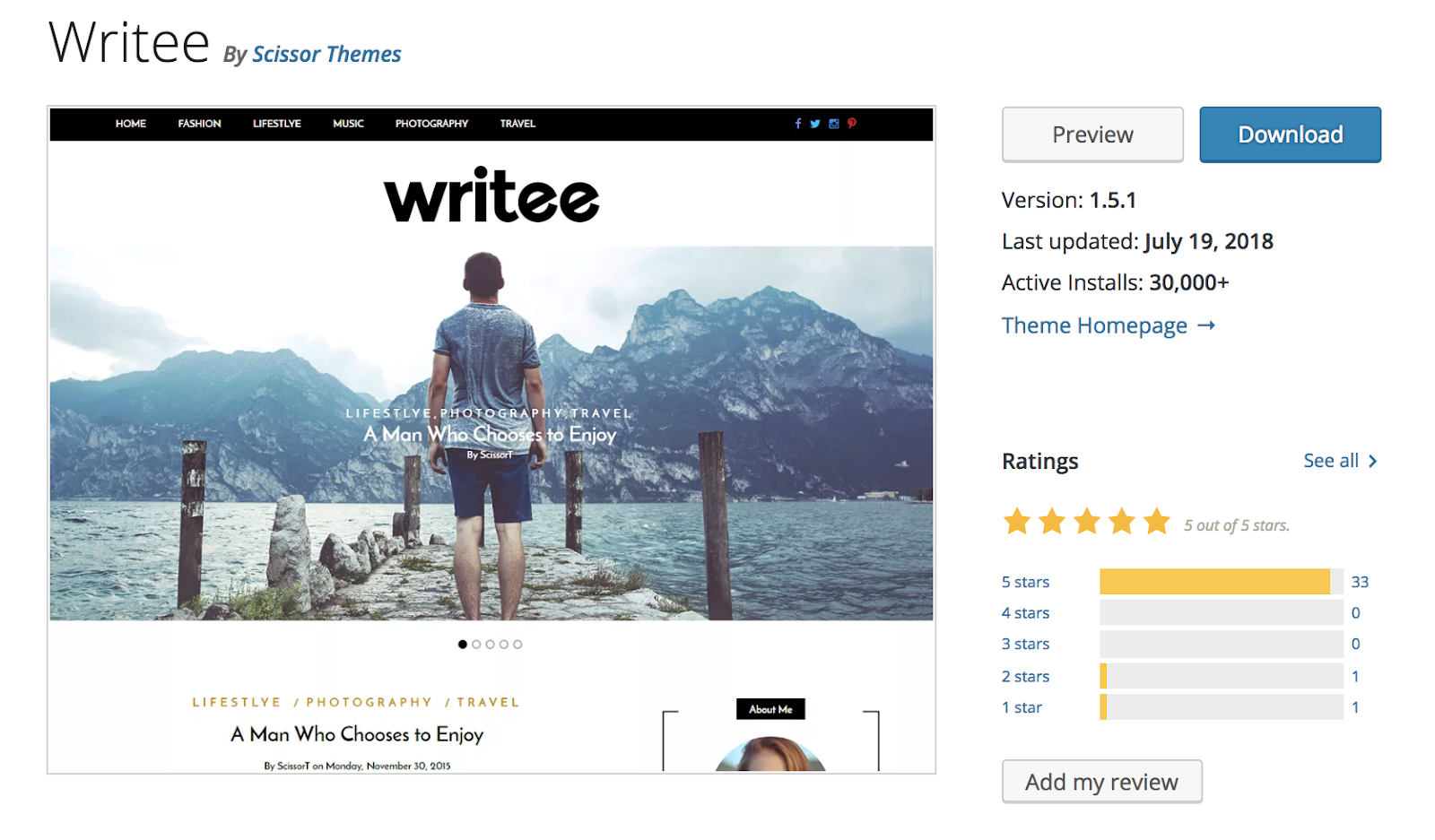 writee-wordpress-theme