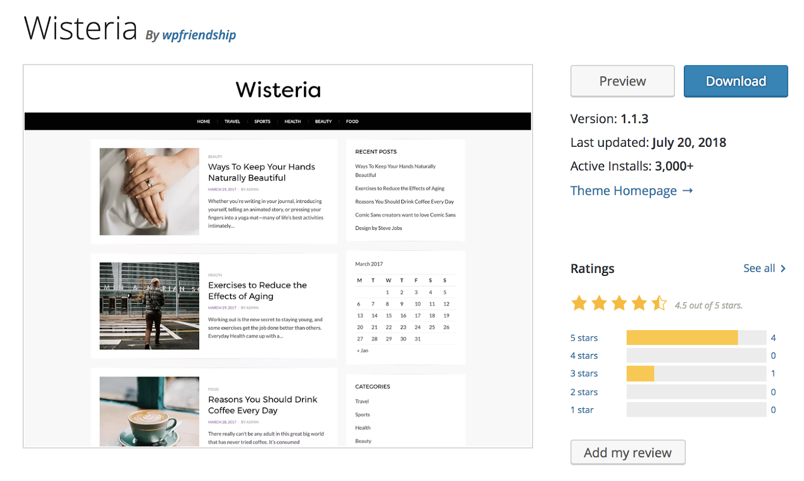 wisteria-wordpress-theme