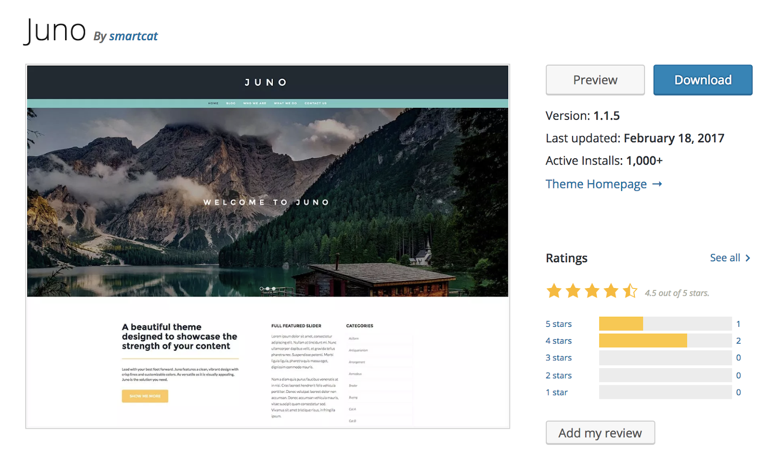 juno-wordpress-theme